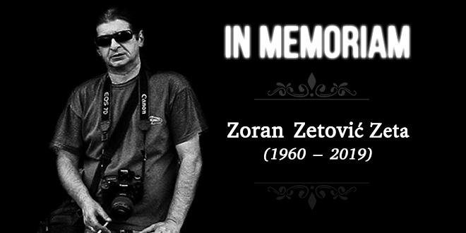 In Memoriam — Zoran Zetović Zeta (1960–2019)