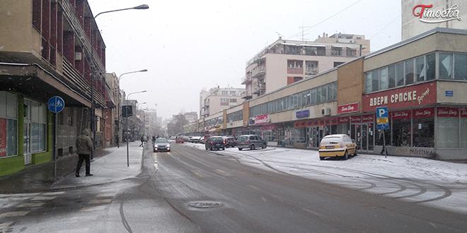 Ulica Nikole Pašića — Sneg