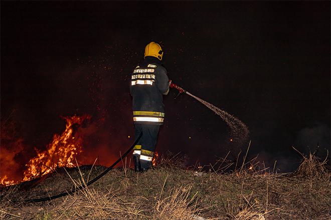 Požar u naselju Podliv