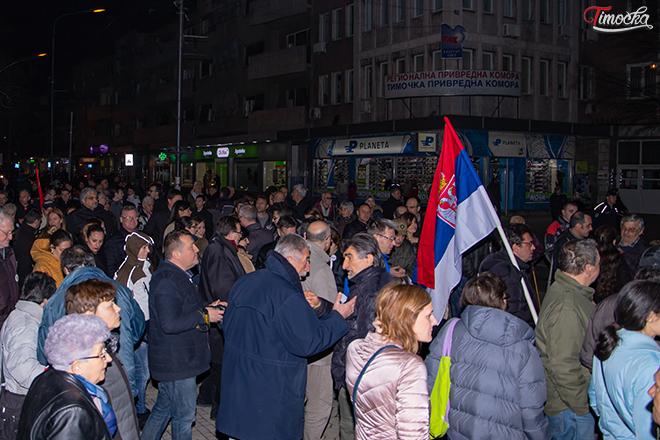 """Девети протестни скуп """"1 од 5 милиона"""" у Зајечару"""