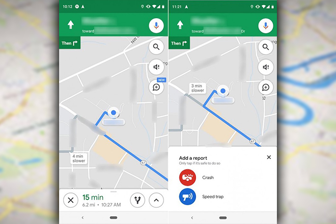 Google Maps — New report feature