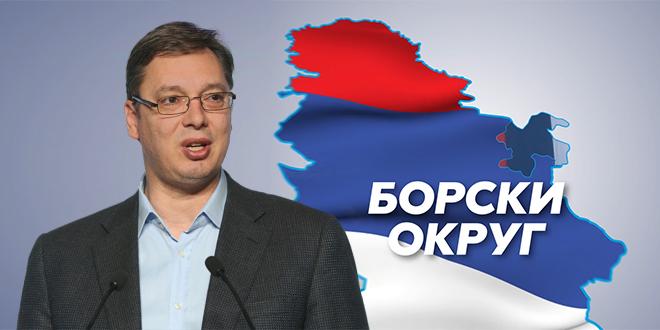 Predsednik Republike Srbije Aleksandar Vučić u poseti Borskom okrugu