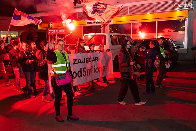 """Dvanaesti protestni skup """"1 od 5 miliona"""" u Zaječaru"""