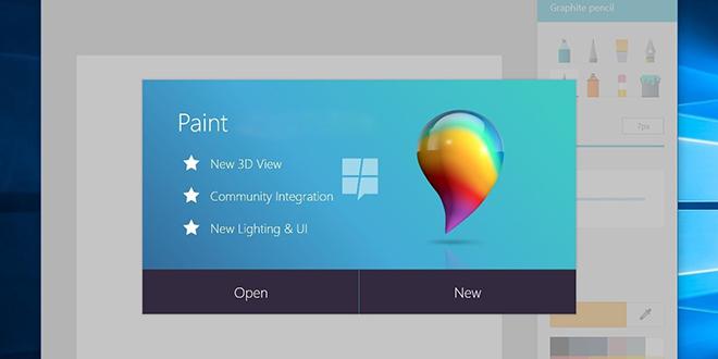 Microsoft Paint — Microsoft Windows 10