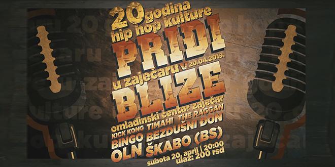 """""""PRIĐI BLIŽE"""" — 20 Godina Hip-Hop Kulture u Zaječaru"""
