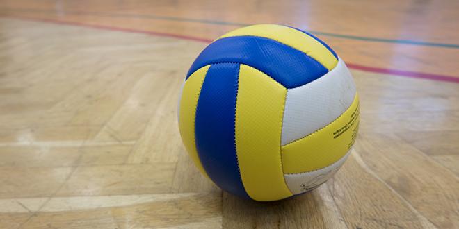 Žuto-plava lopta za odbojku