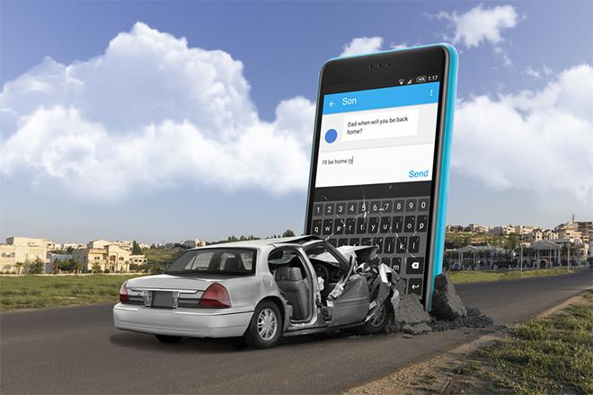 Ne koristite mobilni telefon dok vozite
