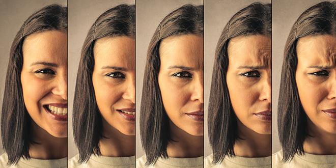 Различити изрази лица код жене