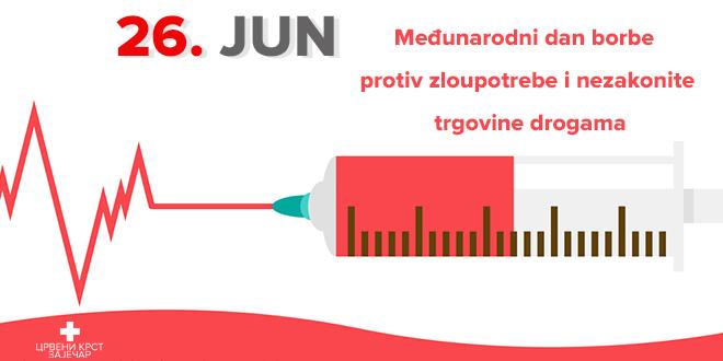 Crveni krst Zaječar — Međunarodni dan borbe protiv zloupotrebe i nezakonite trgovine drogama