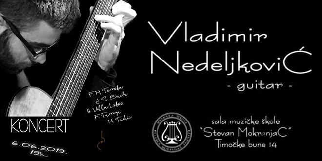Koncert gitariste Vladimira Nedeljkovića u Zaječaru