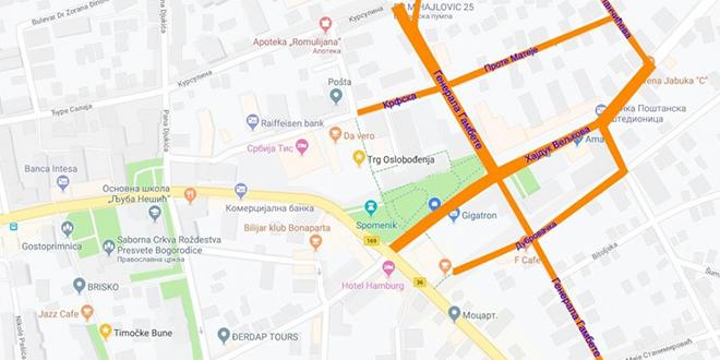 Pojedine ulice u centru Zaječara zatvorene za saobraćaj zbog dolaska predsednika Republike Srbije Aleksandra Vučića