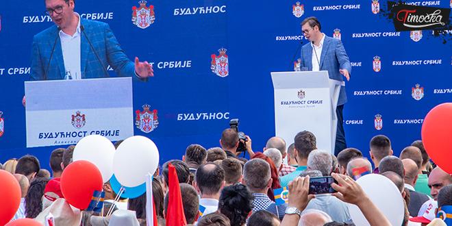 Predsednik Republike Srbije Aleksandar Vučić u poseti Zaječarskom okrugu