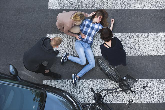 Saobraćajka — Udaren pešak, žena