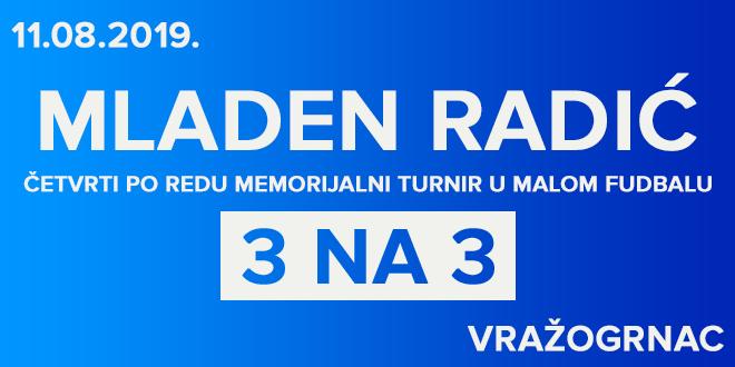 """4. memorijalni turnir u malom fudbalu """"Mladen Radić"""" u Vražogrncu"""