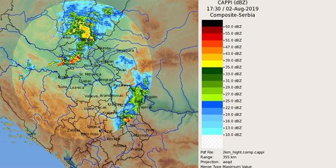 Meteoalarm — 13. i 14. avgust — Zaječar