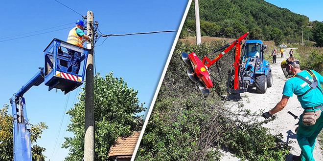Замена дотрајале уличне расвете у Градскову / Уређење пута Лесковац–Горња Бела Река