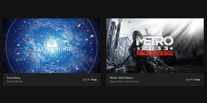 "Epic Games — Free Games ""Everything"" и ""Metro: 2033 Redux"""