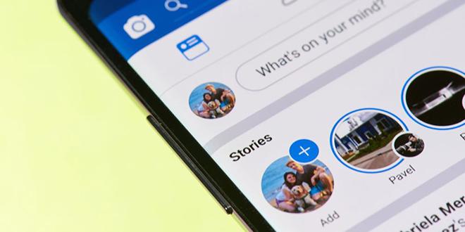 Facebook Stories na mobilnom telefonu