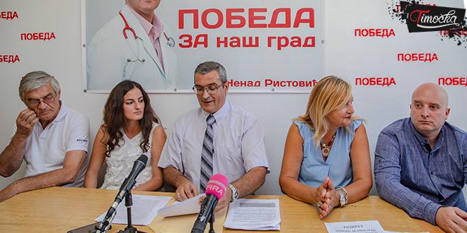 """Građanski pokret """"Pobeda za naš grad – Dr Nenad Ristović"""" — Pres-konferencija"""