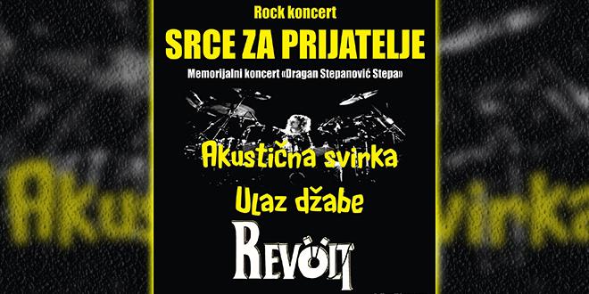 "Memorijalni rok koncert ""Srce za prijatelje"" — Omladinski centar Zaječar"
