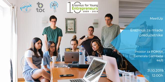 """MeetUp """"Erazmus za mlade preduzetnike"""" u Prostoru za POMAK"""
