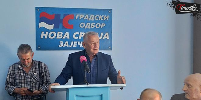Велимир Илић, лидер странке Нова Србија у посети Зајечару