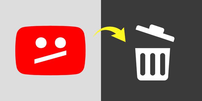 YouTube — Брисање канала