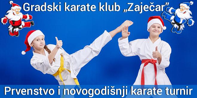 """Gradski karate klub """"Zaječar"""" — Prvenstvo i novogodišnji turnir"""