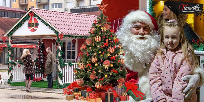 Slikanje sa Deda Mrazom u kućici Deda Mraza u Zaječaru