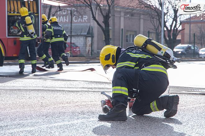 Otvaranje novog Vatrogasnog doma u Zaječaru — Pokazne vežbe