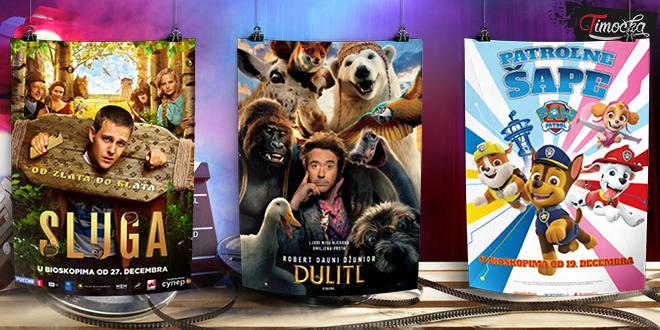 Projekcije filmova — Januar 2020.