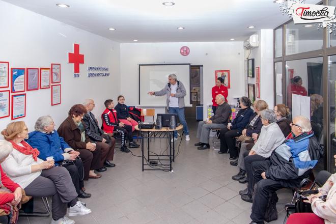 Klub starih 65+ Zaječar — Serija predavanja iz prve pomoći