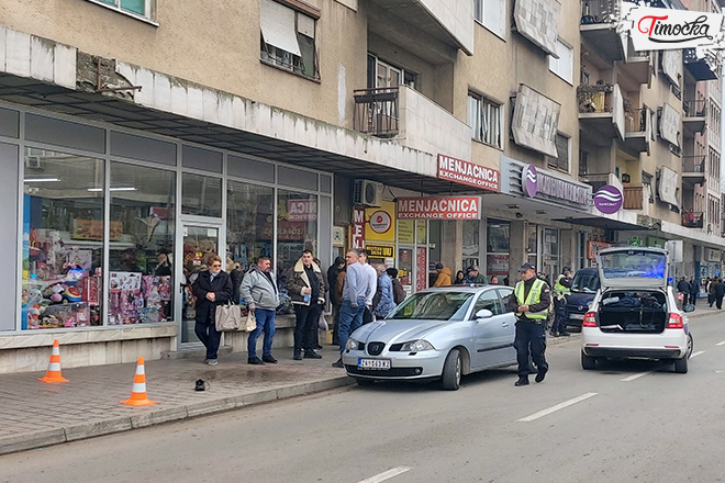 Saobraćajna nezgoda u ulici Nikole Pašića u Zaječaru