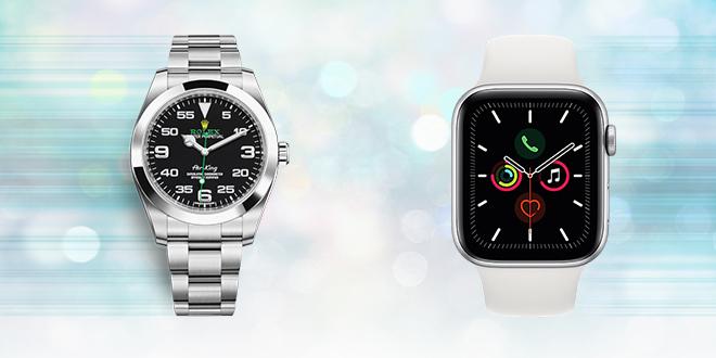 Satovi marke Rolex i Apple