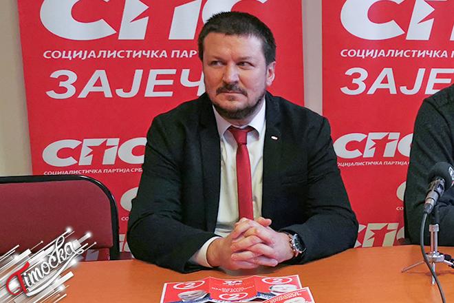Srđan Stanojević — Kandidat za narodnog poslanikai spred koalicije SPS-JS u Zaječaru
