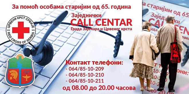 Grad Zaječar i Crveni krst Zaječar — Call centar — COVID-19