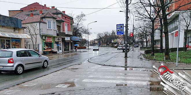 Киша — Улица Николе Пашића у Зајечару