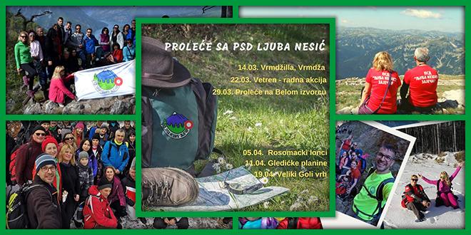 """PSD """"Ljuba Nešić"""" Zaječar — Prolećne planinarske akcije"""
