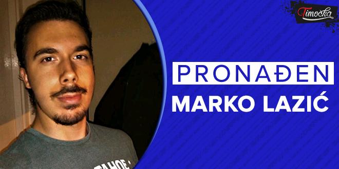 Pronađena nestala osoba — Pronađen Marko Lazić iz Negotina