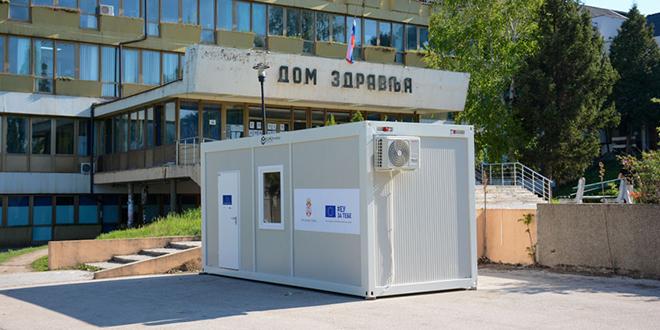 Klimatizovani kontejner — Donacija Vlade RS i EU Domu Zdravlja Zaječar