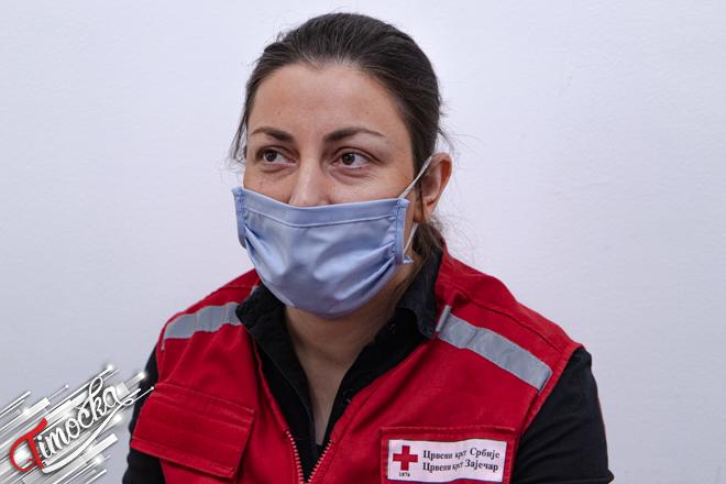 Ирена Младеновић — стручни сарадник на програму добровољног давалаштва крви у Црвеном крсту Зајечар