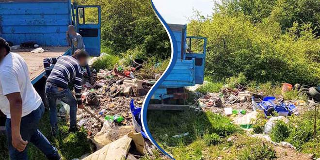 Истоваривали отпад из камиона крај пута надомак Зајечара