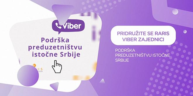 """RARIS: Viber zajednica """"Podrška preduzetništvu istočne Srbije"""""""