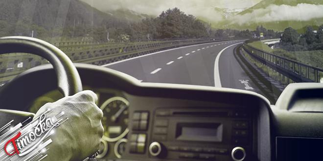 Vozač vozi kamion