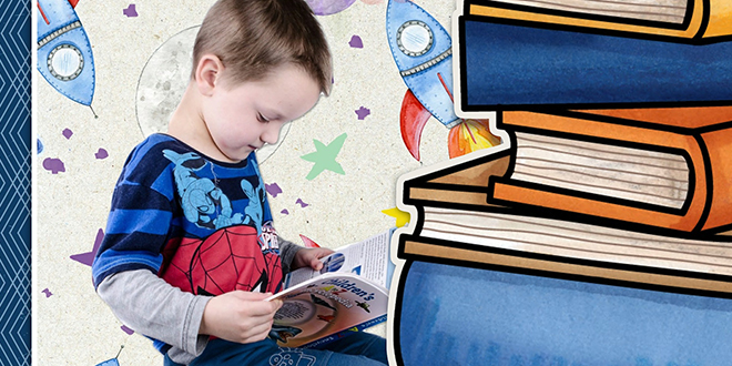 Dečak čita knjigu