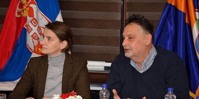 Premijerka Republike Srbije Ana Brnabić i gradonačelnik Zaječara Boško Ničić