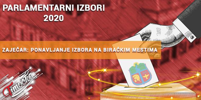 Republika Srbija: Parlamentarni izbori 2020 — Ponavljanje izbora na biračkim mestima u Zaječaru