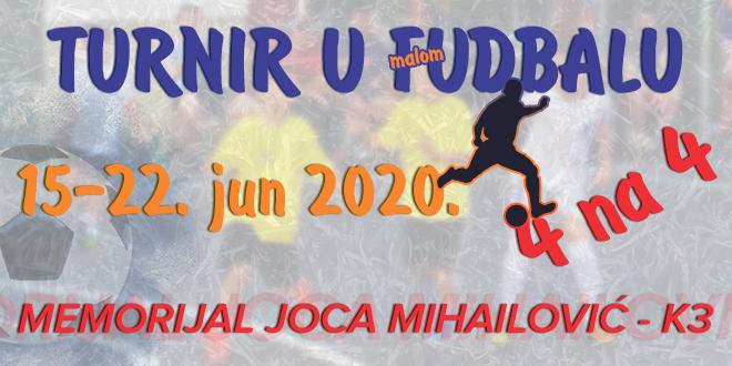 """Turnir u malom fudbalu """"Memorijal Joca Mihailović – K3"""""""