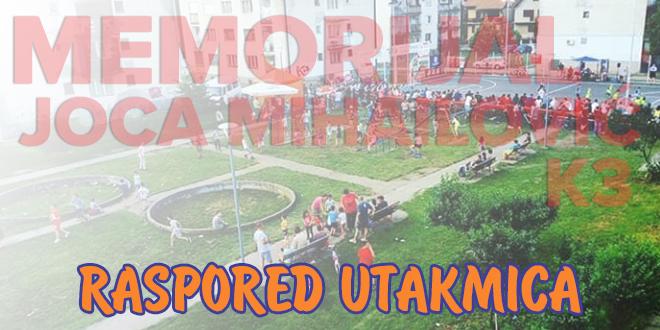 """Turnir u malom fudbalu """"Memorijal Joca Mihailović – K3"""": Raspored utakmica"""