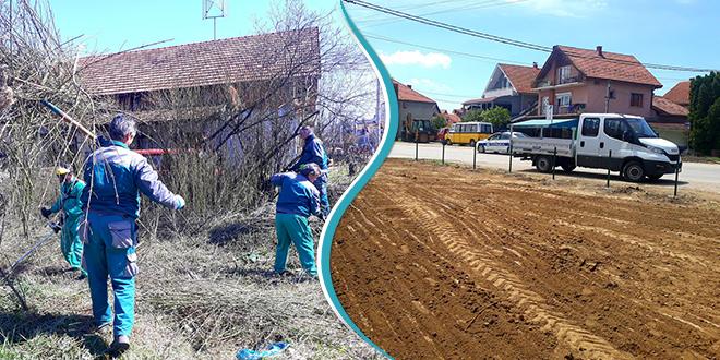 Uređenje površine na Izvorskom putu u Zaječaru